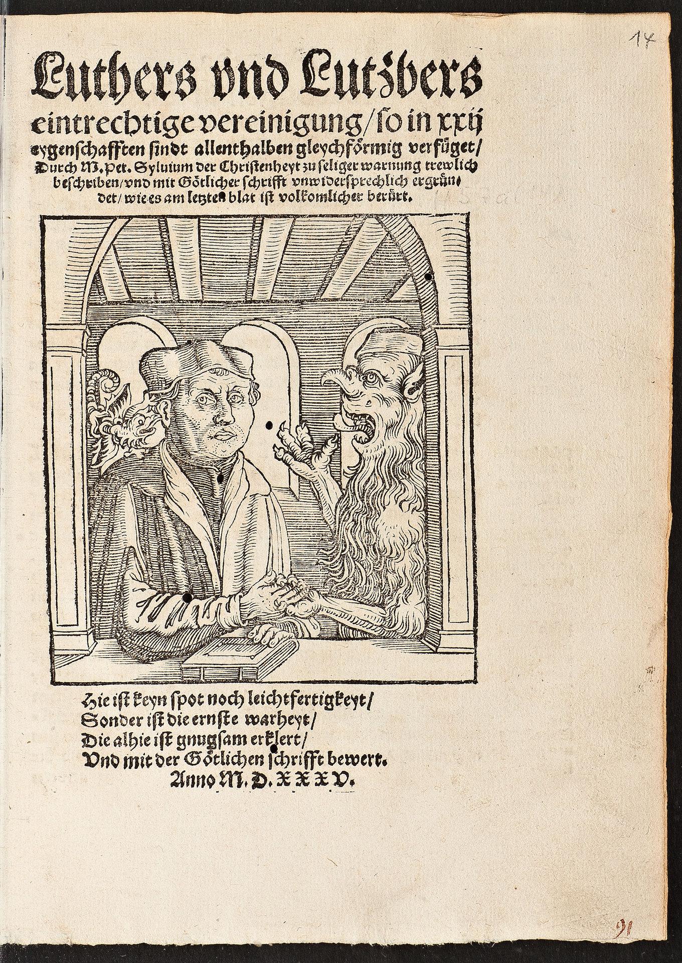 Luthers und Luzifers einträchtige Vereinigung