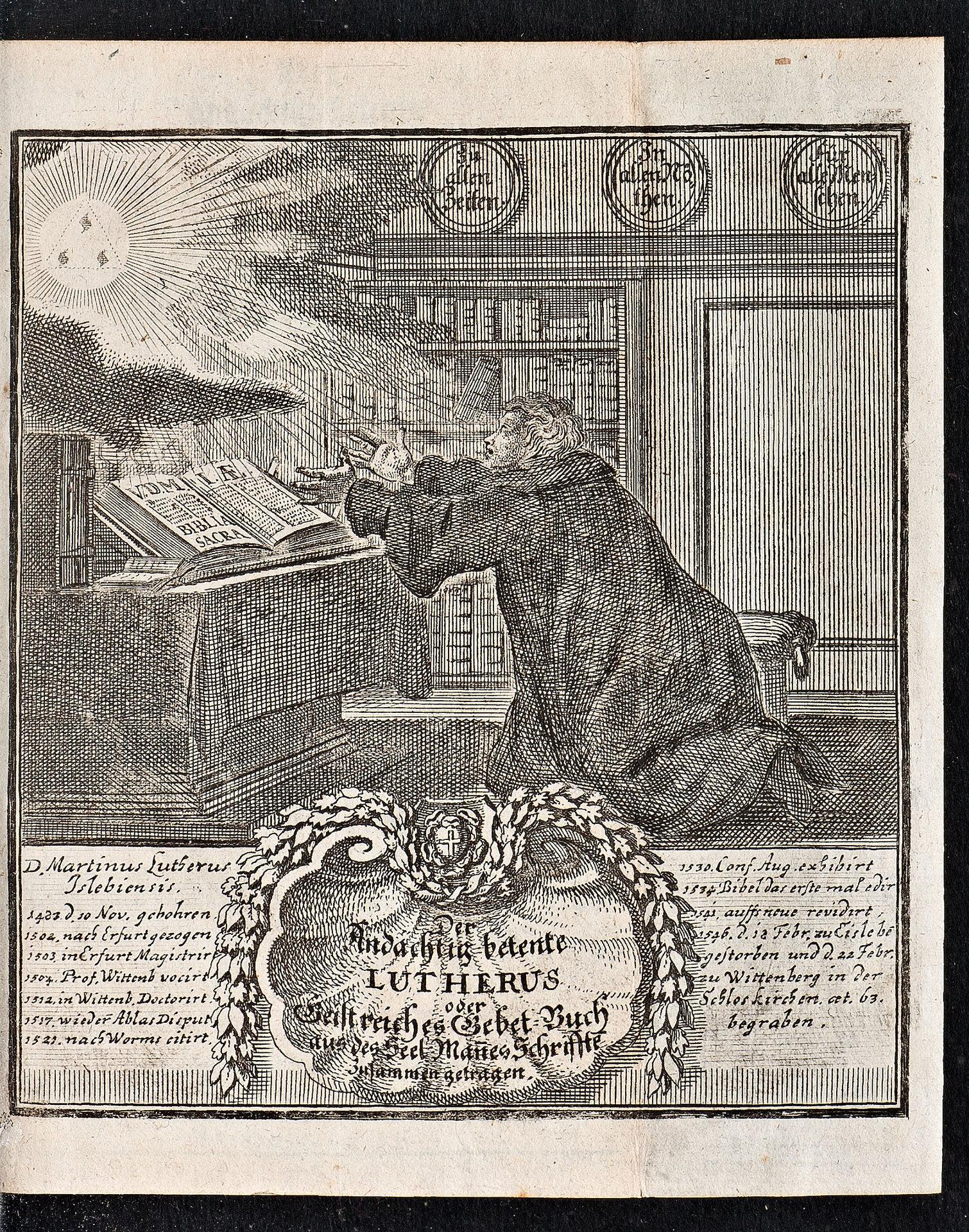 Der andächtig betende Lutherus