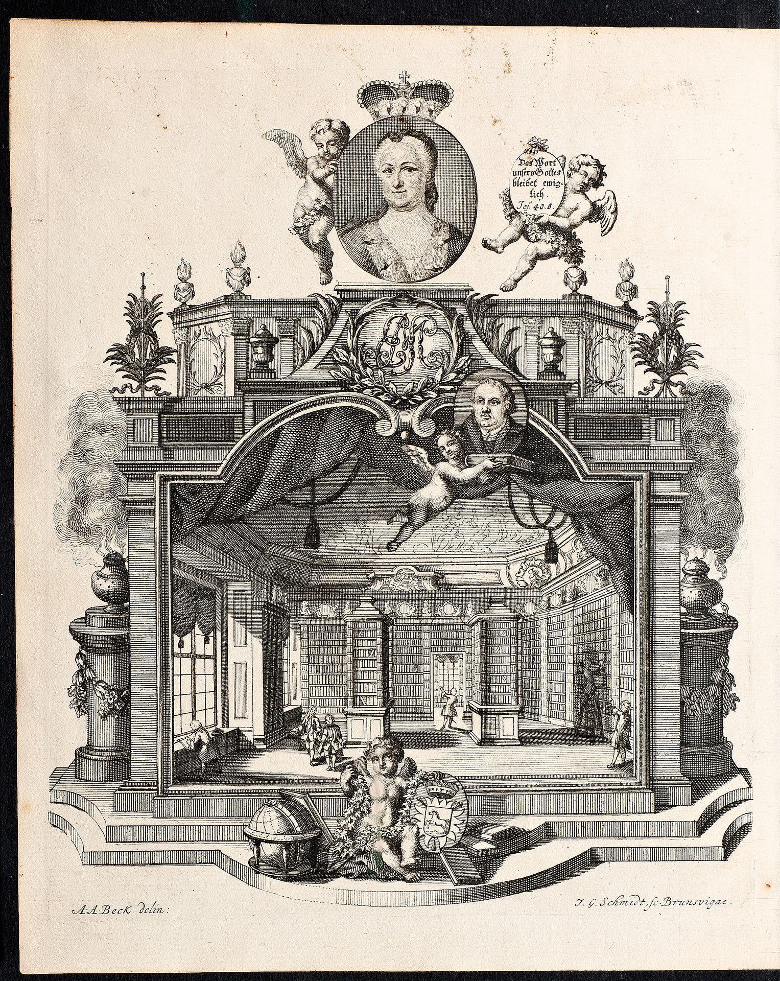 Idealdarstellung der Bibelsammlung von Elisabeth Sophie Marie von Braunschweig-Lüneburg