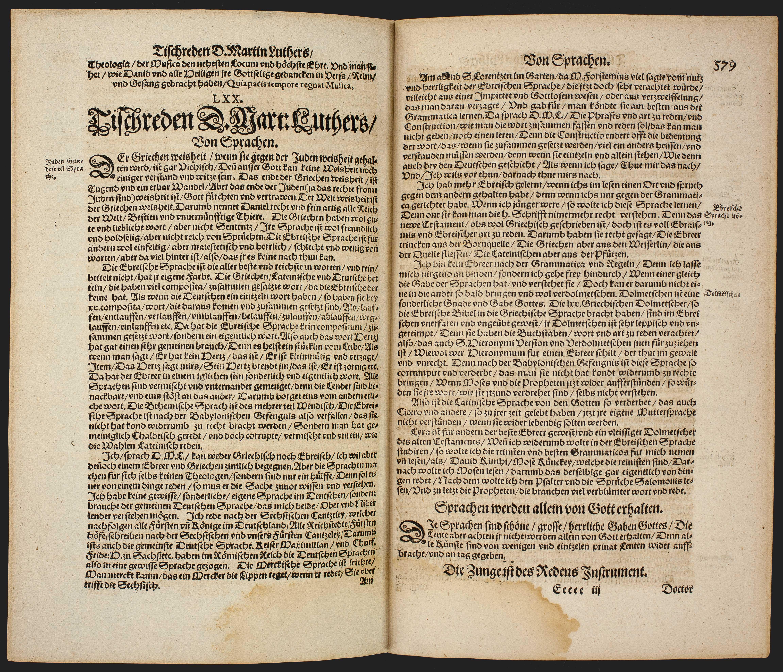 Tischreden Luthers. Von Sprachen
